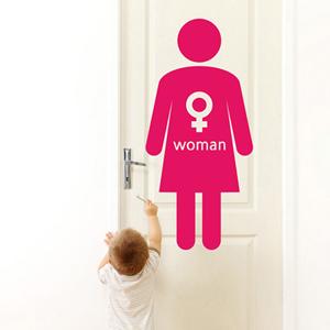 [무료배송/낭만창고]idc200-WOMAN(여자 화장실 표시 스티커)